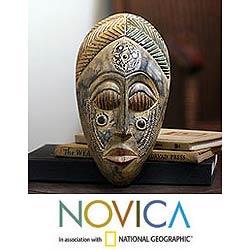 Wood 'Royal Presence' Mask , Handmade in Ghana