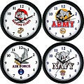 Military Armed Forces Mascot Clock