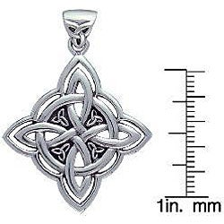 Carolina Glamour Collection Sterling Silver Celtic Spiritual Trinity Symbol Necklace