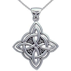 CGC Sterling Silver Celtic Spiritual Trinity Symbol Necklace