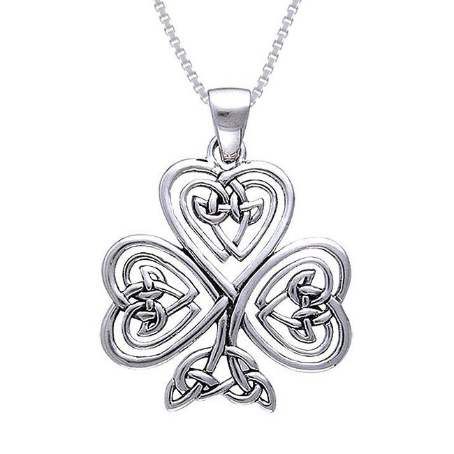 Carolina Glamour Collection Sterling Silver Shamrock Of Faith Necklace