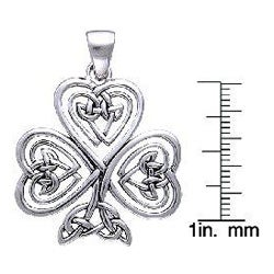 CGC Sterling Silver Shamrock Of Faith Necklace