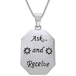 CGC Sterling Silver Ask and Receive Tag Necklace