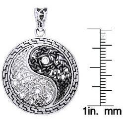 CGC Sterling Silver Yin-yang Necklace