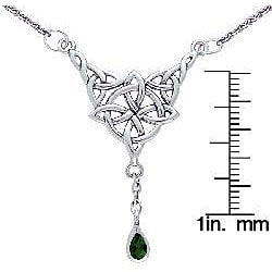 Carolina Glamour Collection Sterling Silver Celtic Luck Knot Necklace