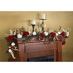 Hydrangea and White Rose 72-inch Garland