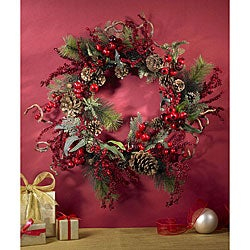 Assorted Berry 24-inch Wreath