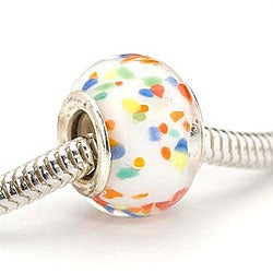 Beadaholique Glass Lampwork 13-mm European Charm Beads (Pack of 2)