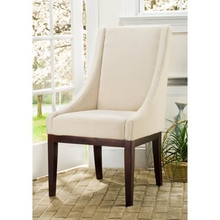 Safavieh En Vogue Dining Soho Creme Arm Chair Linen