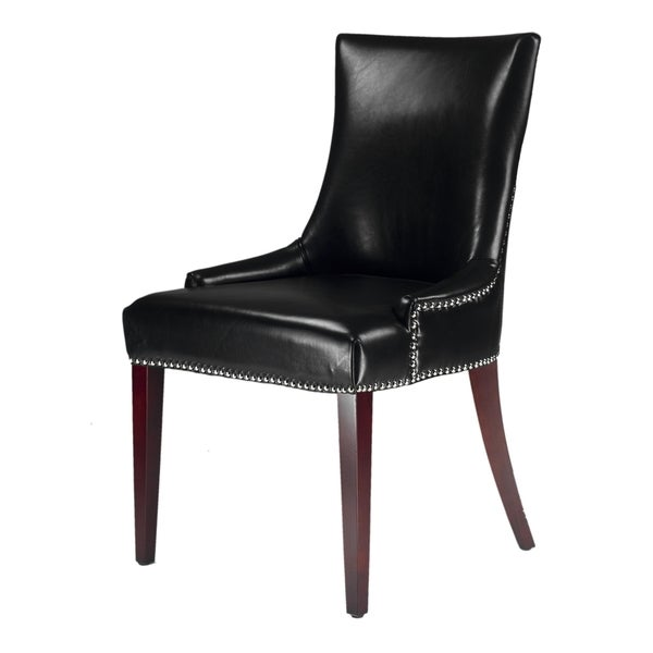 Becca Leather Dining Chair Black Room Modern Furniture