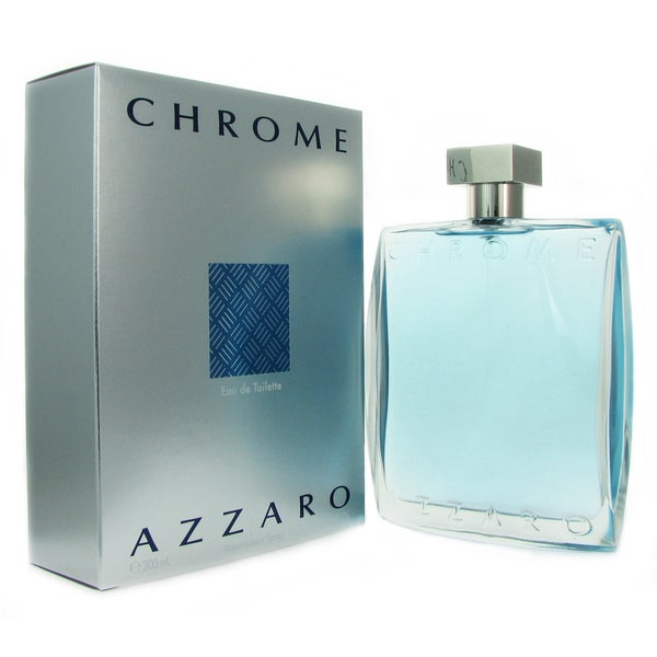 Azzaro chrome men 39 s 6 8 ounce eau de toilette spray for Chrome azzaro perfume