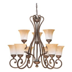 Brandywine Grecian Stone Finish 9-light Chandelier