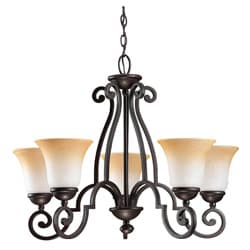 Brandywine Brindisi Bronze Finish 5-light Chandelier