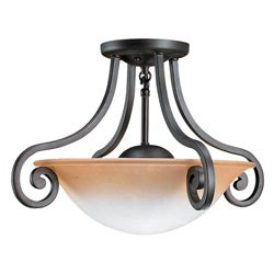 Brandywine Brindisi Bronze Finish 2-light Semi-flush Fixture