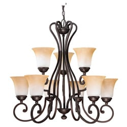Brandywine Brindisi Bronze Finish 9-light Chandelier