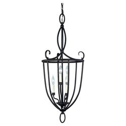 Brindisi Bronze Finish 6-light Hall/ Foyer Fixture