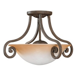 Brandywine Grecian Stone Finish 2-light Semi-Flush Fixture