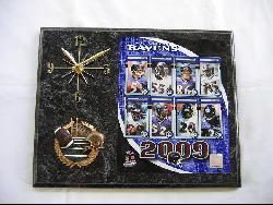 Baltimore Ravens Team Picture Plaque Clock