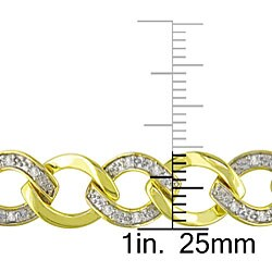 Miadora Goldplated Sterling Silver 1/2ct TDW Diamond Bracelet (J-K, I3)