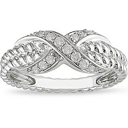 Miadora 10k White Gold 1/5ct TDW Diamond Ring (H-I, I2-I3)