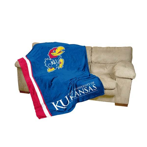 University of Kansas UltraSoft Oversize Throw Blanket