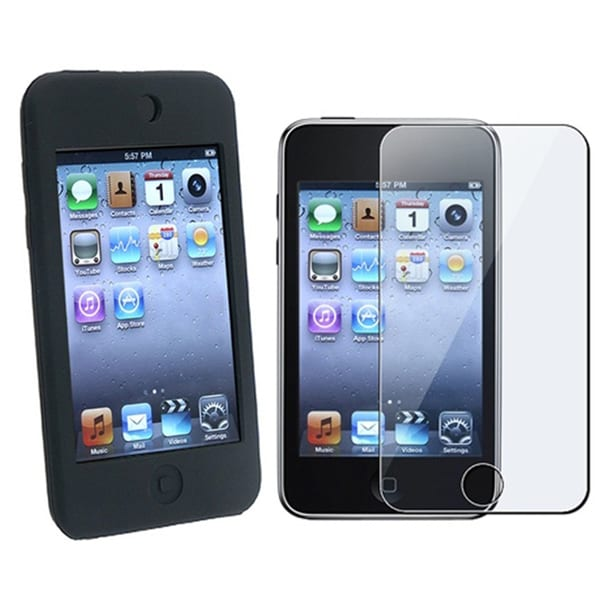 INSTEN Silicone Case Cover and Screen Protector for iPod Touch 1G and 2G