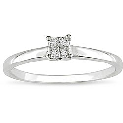 10k Gold 1/10ct TDW Princess Diamond Promise Ring (H-I, I2-I3)