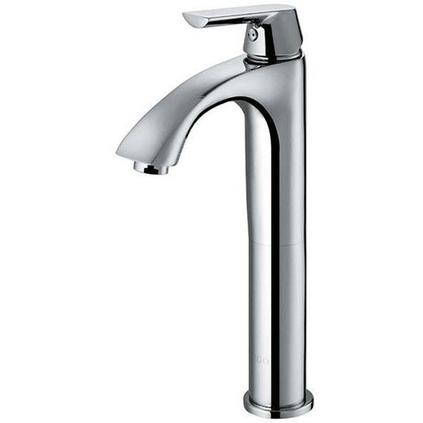 VIGO Chrome-Finish Brass Bathroom Vessel Faucet