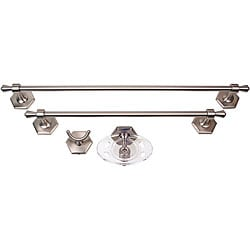 Moen Atwood 4-piece Pewter Bath Accessory Kit