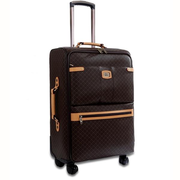 Rioni Signature Designer 25-inch Fasion Spinner Upright Suitcase