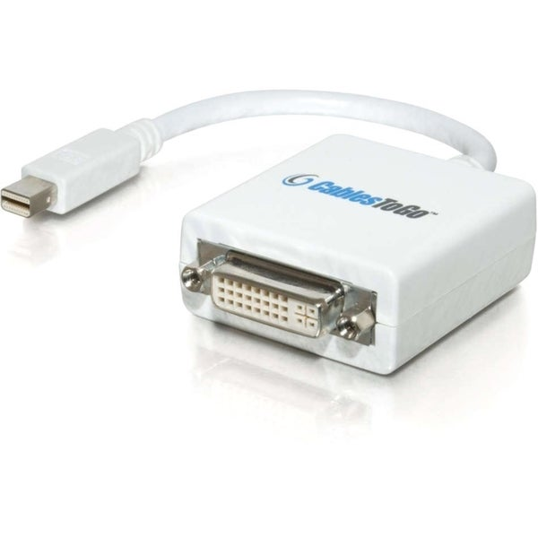 C2G 8.5in Mac-Compatible Mini DisplayPort 1.1 Male to DVI-D Female Ad