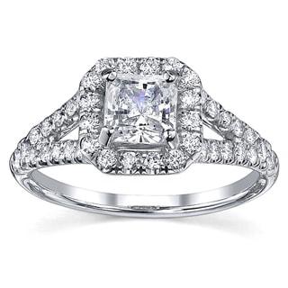 18k Gold 1 1/4ct TDW EGL Diamond Engagement Ring (H-I, SI1-SI2)