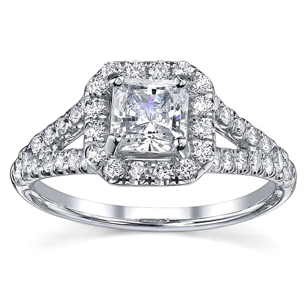 18k Gold 1 1/4ct TDW EGL Diamond Engagement Ring (H-I, SI1-SI2)