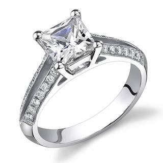 18k White Gold 1 1/4ct TDW Certified Diamond Engagement Ring (H-I, SI1-SI3)