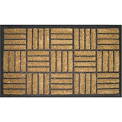 Criss-cross Natural Coir Door Mat (1'6 x 2'6)