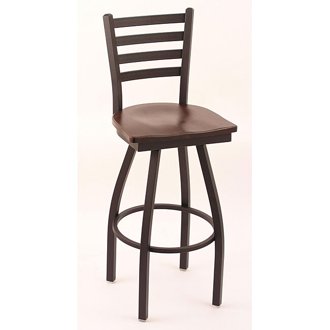 black 30 in counter swivel stool dark cherry wood maple seat furniture