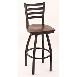 Cambridge Black 30-Inch Counter Swivel Stool with Dark Cherry Wood Maple Seat