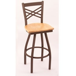 Cambridge Bronze 30-inch Counter Swivel Stool with Natural Oak Seat
