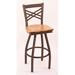 Cambridge Bronze 30-inch Counter Swivel Stool with Medium Maple Seat