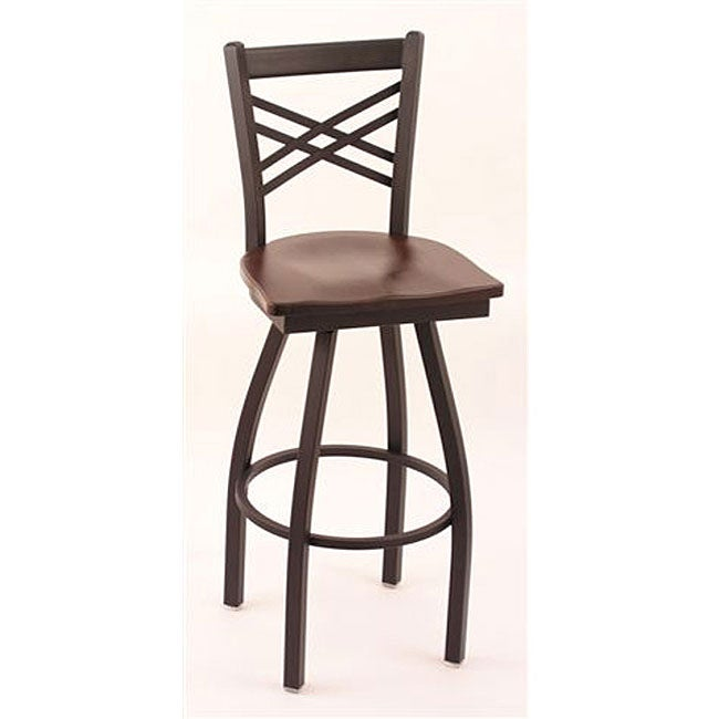 Cambridge Black Solid Wood 25 Inch Counter Swivel Stool  : Cambridge Black Solid Wood 25 Inch Counter Swivel Stool with Dark Cherry Maple Seat L12297428a from www.overstock.com size 650 x 650 jpeg 21kB