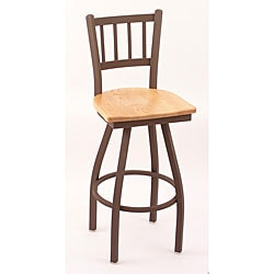 Cambridge Bronze 25-inch Counter Swivel Stool with Natural Oak Seat