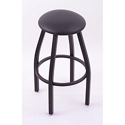 Cambridge Black 25-Inch Backless Counter Swivel Stool with Black Vinyl Cushion Seat