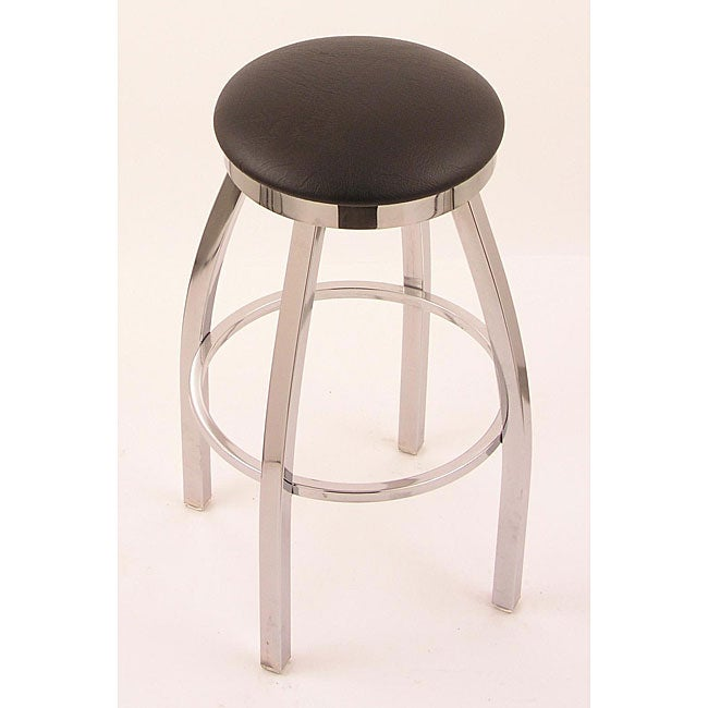 Chrome Single Ring 25 Inch Backless Counter Swivel Stool