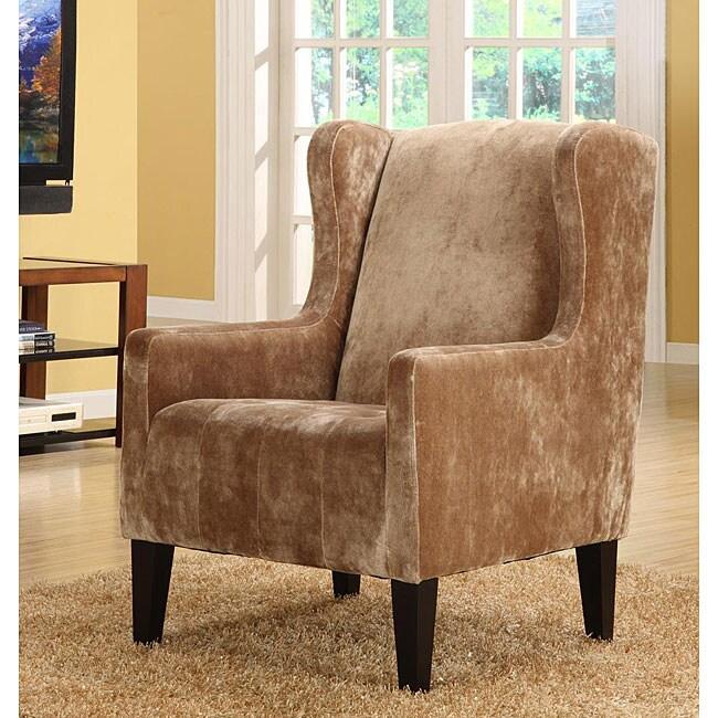 Velvet Club Chair Caramel