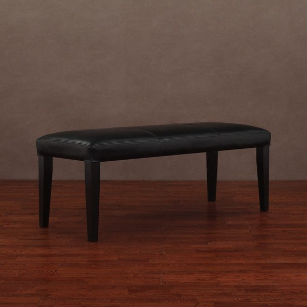 Madison Black Leather Bench Overstock Shopping Great Deals On Benches