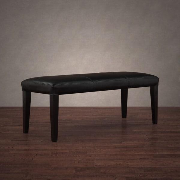 Madison Black Leather Bench