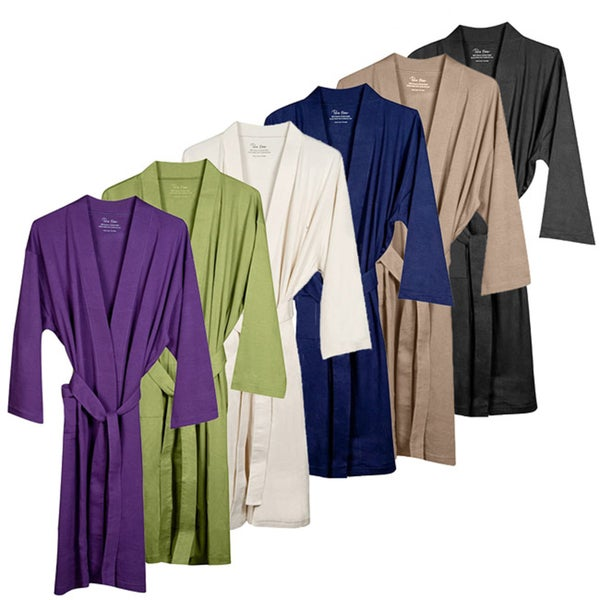 Unisex Organic Combed Cotton Interlock Jersey Bath Robe