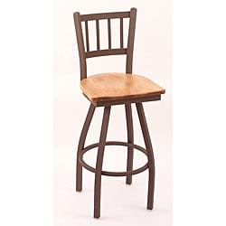 Cambridge Bronze 25-inch Counter Swivel Stool with Medium Maple Seat