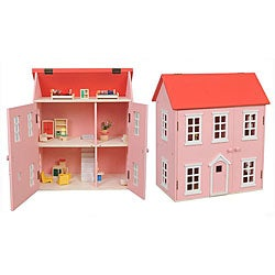 Sweet Multi-level Pink Dollhouse