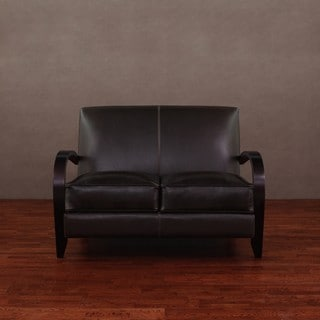 Bloomington Dark Brown Leather Loveseat